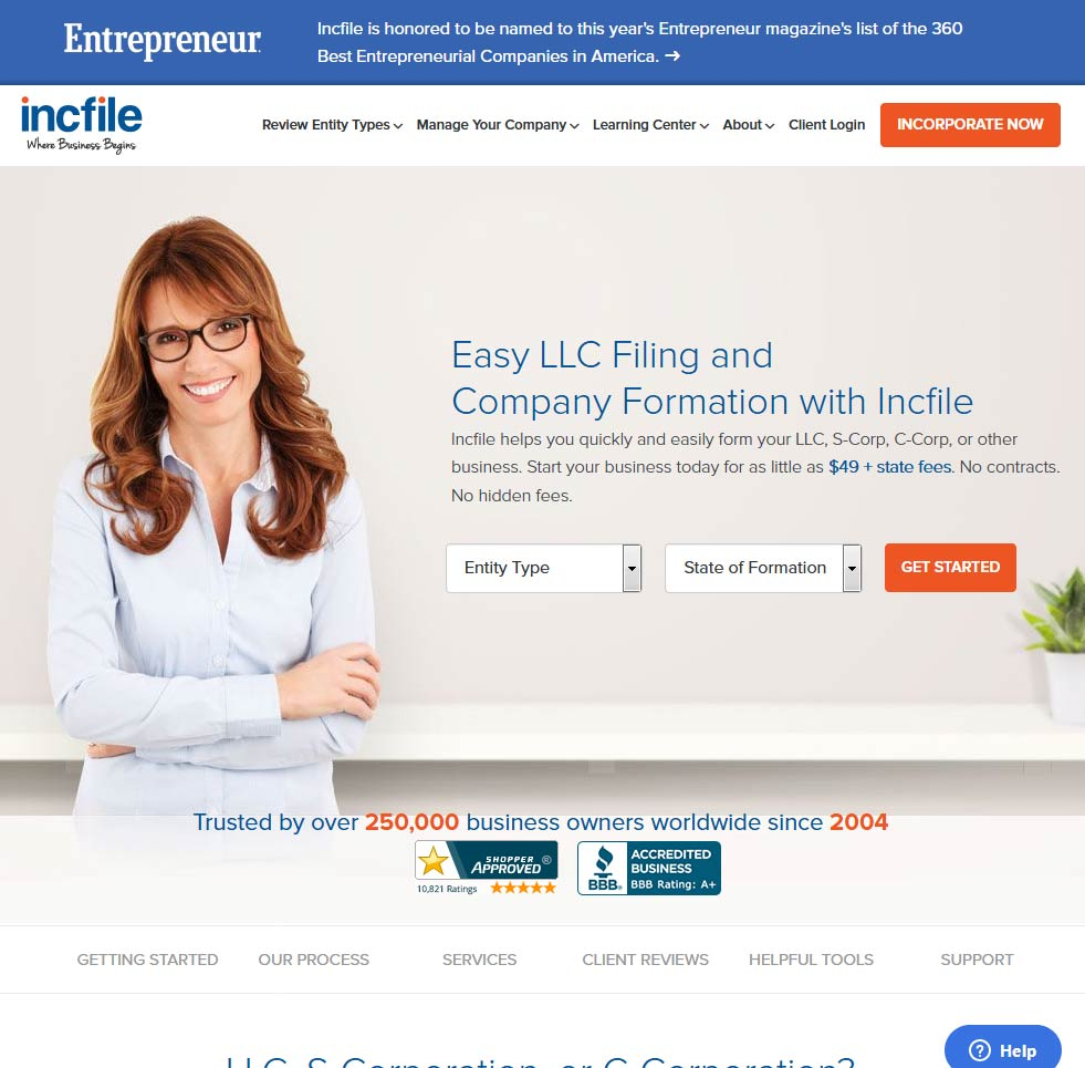 Incfile Customer Service Number