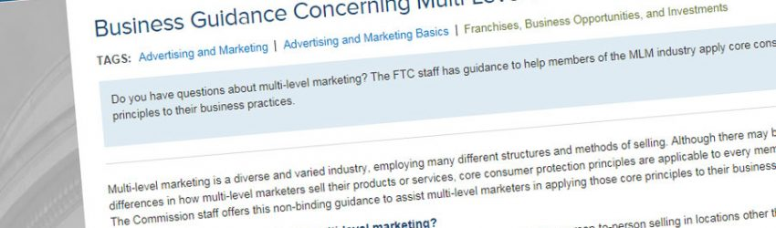 FTC Releases MLM Business Guidance