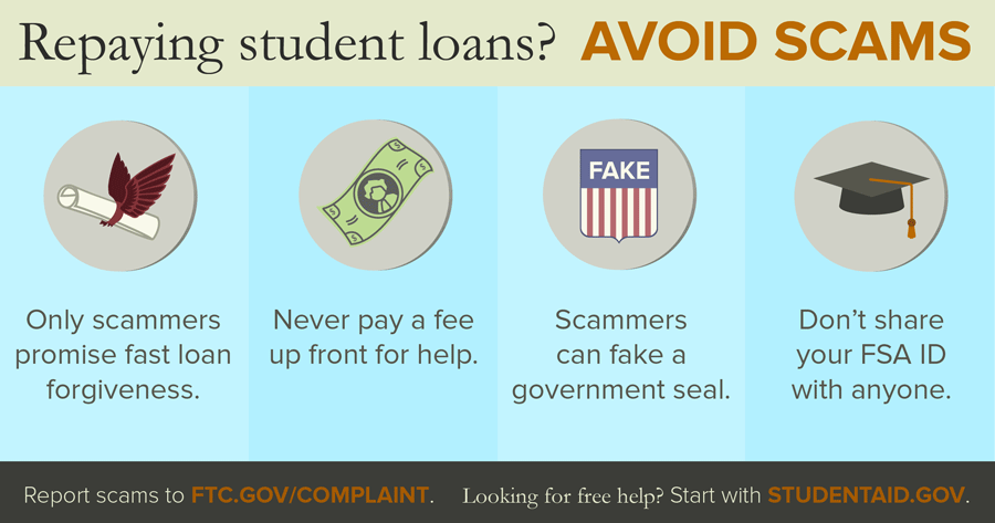 how to avoid student debt relief scams